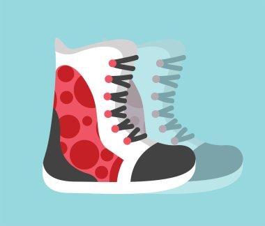 Snowboard sport clothes boots elements