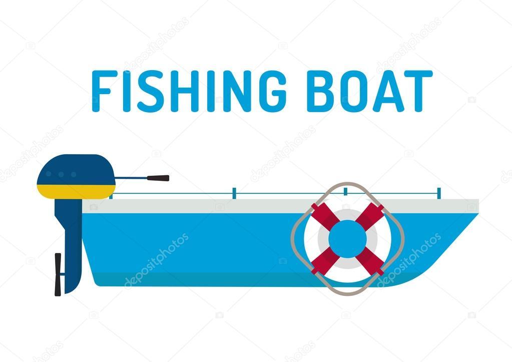 Fishing boat ship vector illustration