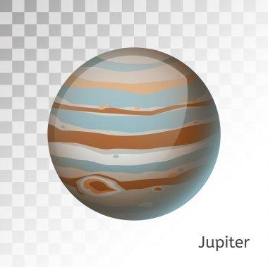 Jupiter planet 3d vector illustration