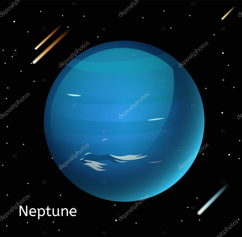 Neptune planet 3d vector illustration vector de stock adekvat globe neptune texture map globe vector neptune view from space neptune illustration vector neptune planet neptune planet silhouette world map gumiabroncs Image collections