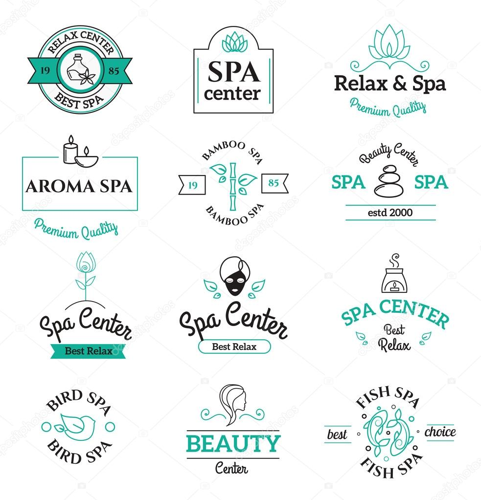 Spa beauty and body care vector logo templates icons