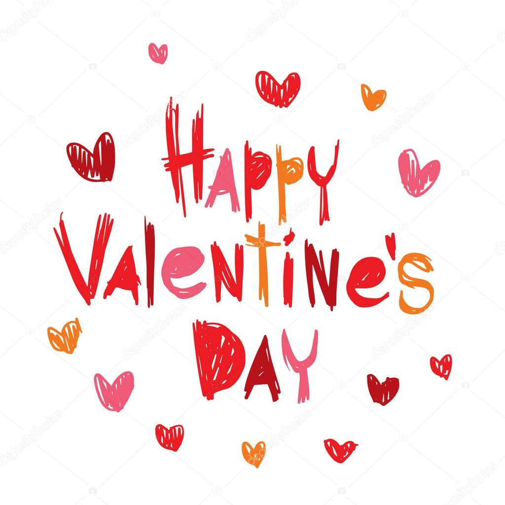 Happy Valentines Day Greeting Cards Vector Illustration Stock
