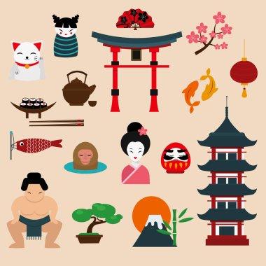 Japan travel vector illustration