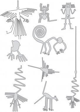 nasca lines geoglyphs in the desert of Peru
