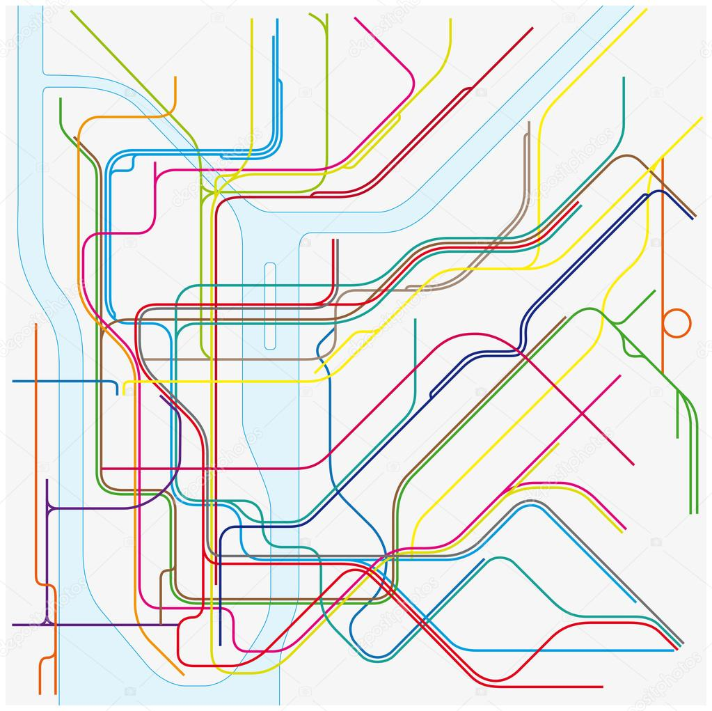 U Bahn Karte New York.U Bahn Vektor Karte Von New York City Stockvektor Lesniewski