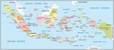 Indonesia administrative map