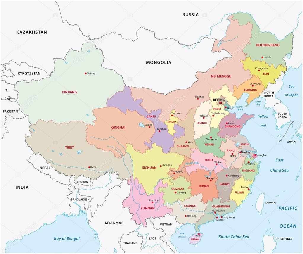 Administrative divisions of China Stock Vector Lesniewski 59247931