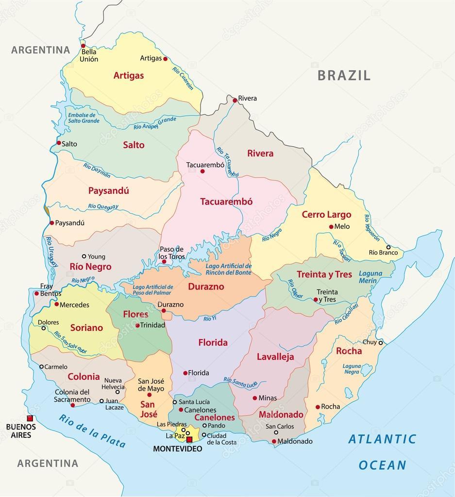 uruguay karta Uruguay administrativa karta — Stock Vektor © Lesniewski #59253213 uruguay karta