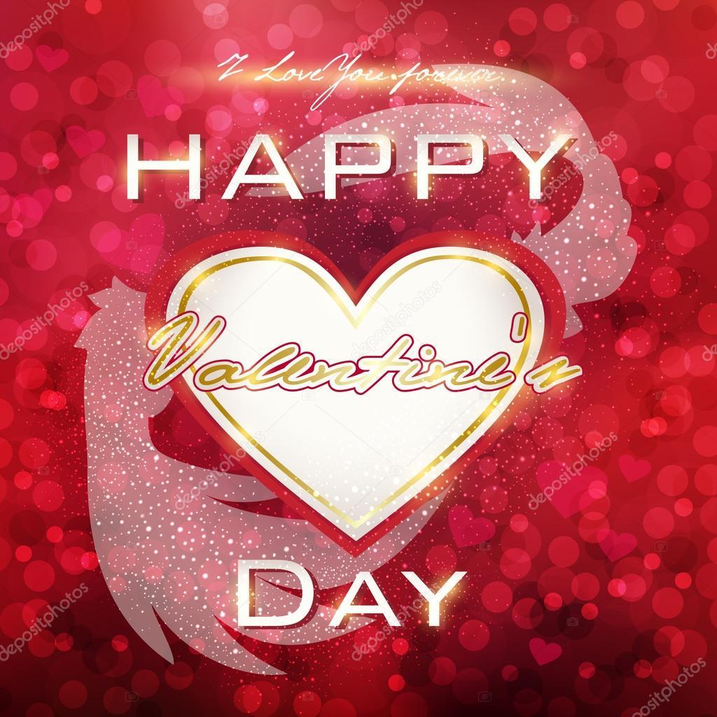 Illustration Für Das Fest Der Liebe Happy Valentines Day