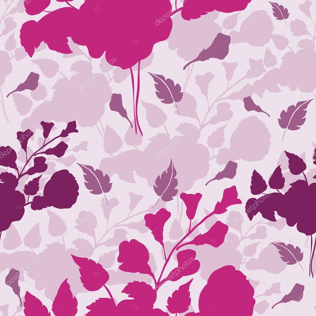 Carta da parati senza giunte di fiori stilizzati in fiore for Carta parati fiori
