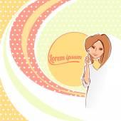 Fotografia Illustrazione vettoriale di un medico femminile