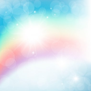 Abstract vector image of the rainbow.