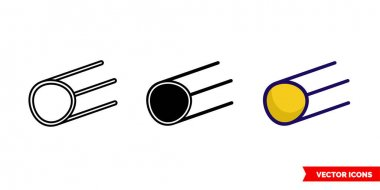 Satellite icon of 3 types. Isolated vector sign symbol. icon