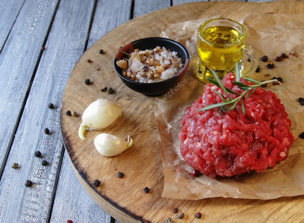 krydda köttfärs hamburgare