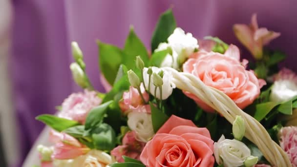 A bouquet of beautiful fresh flowers close-up. Very cool live plants.