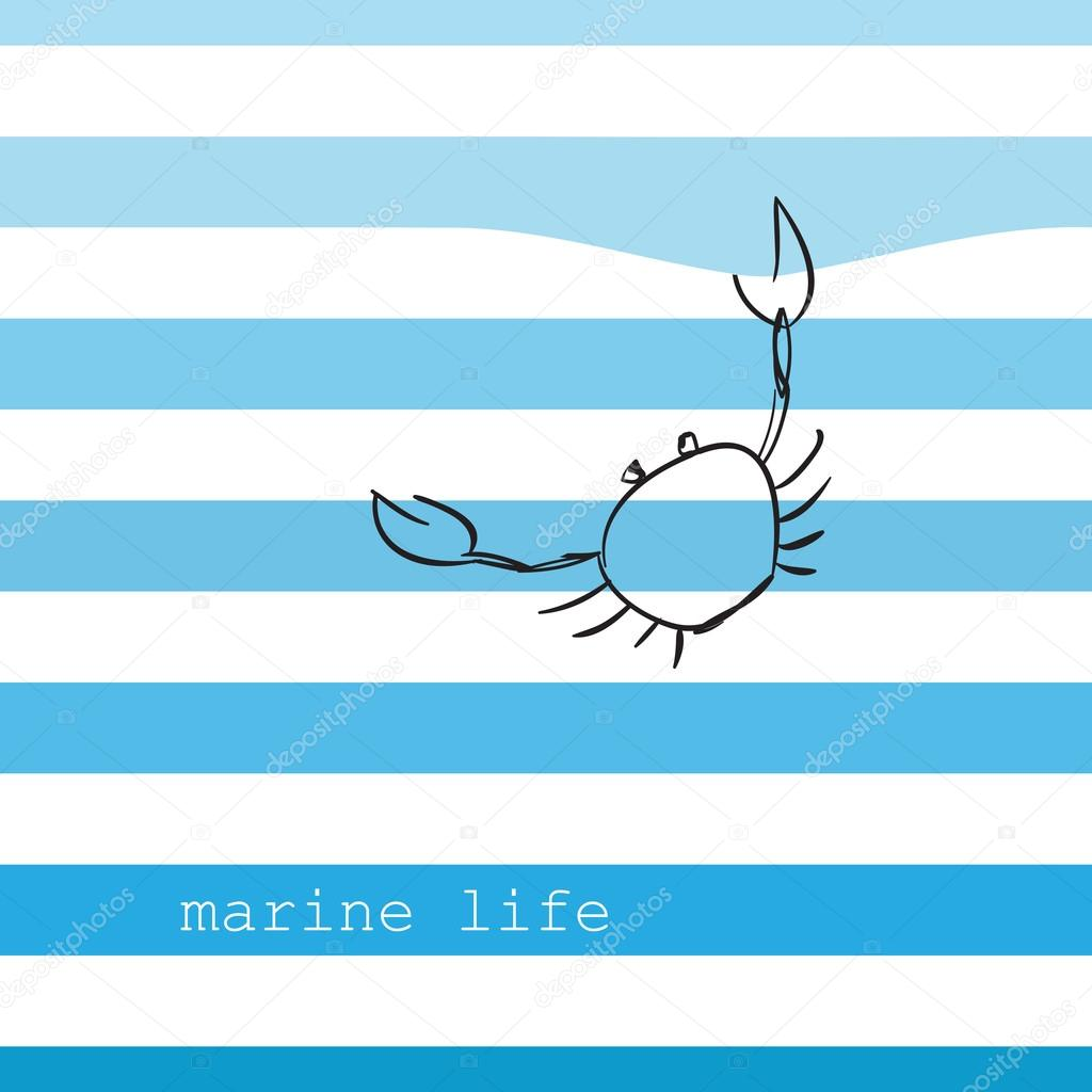 Card with marine stripes