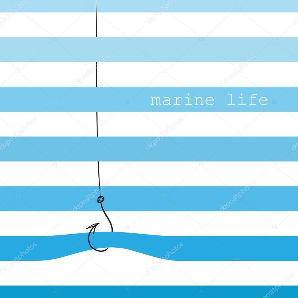 Card with marine stripes