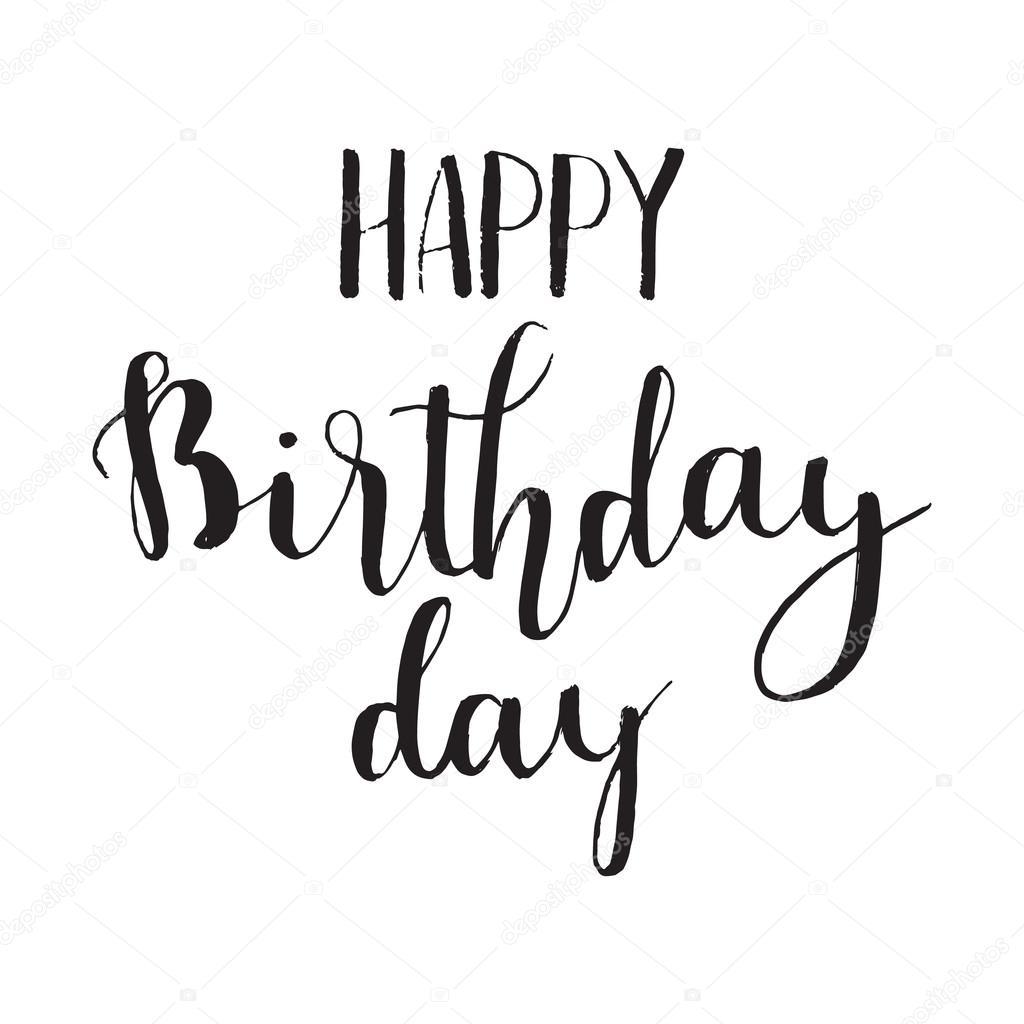Happy Birthday Schriftart ~ Happy birthday t tec skript stylu rukou n�pisy stock vektor � maximsuvorov
