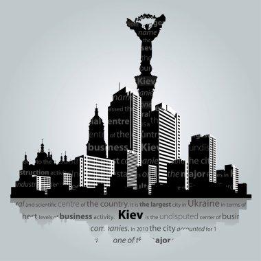 Kiev city silhouette.