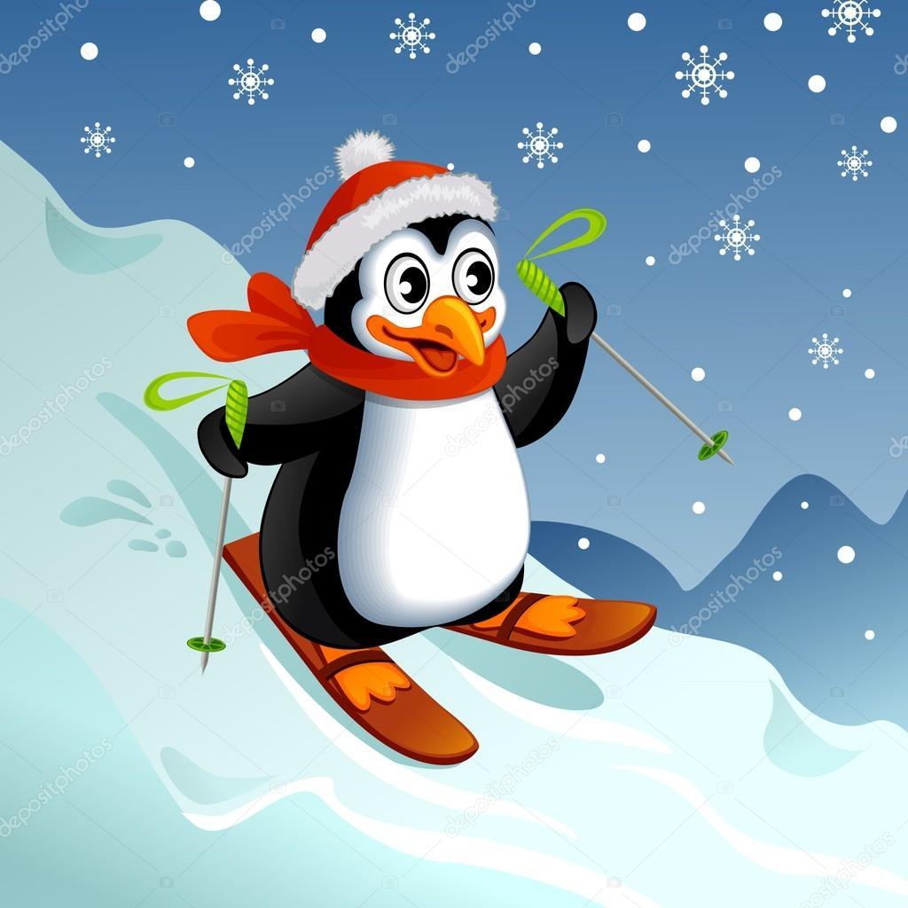 Pingouin dessin anim sur ski image vectorielle alka5051 59198883 - Dessin anime les pingouins ...