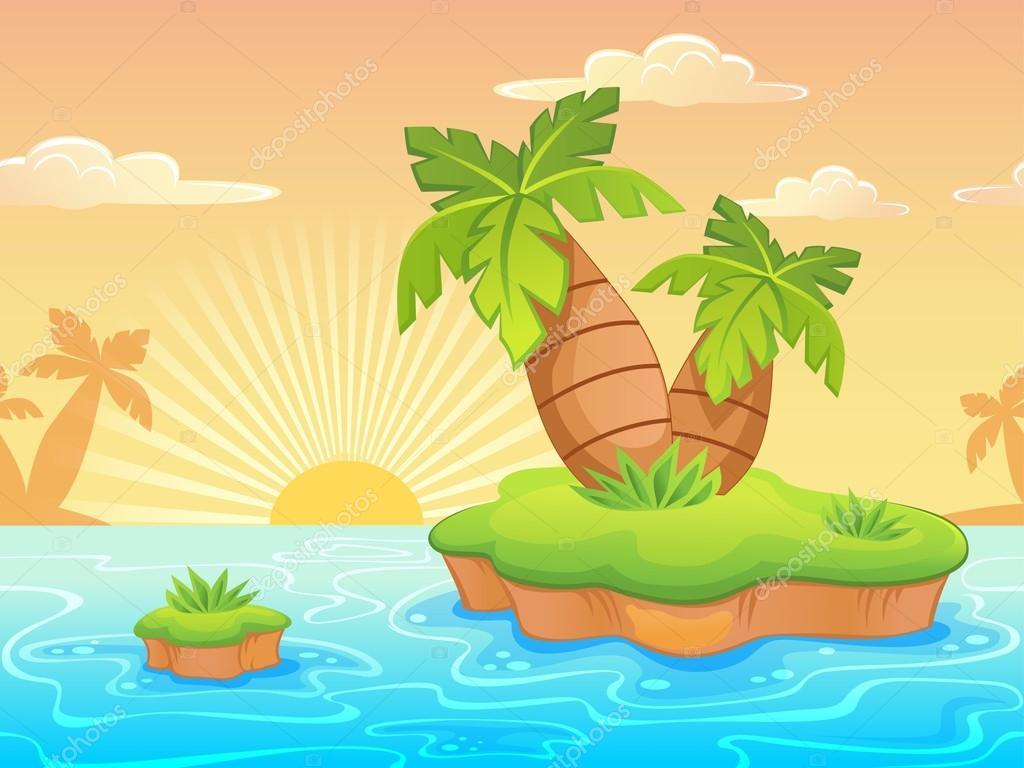 Paisajes De Playas Animadas Paisaje Con Playa Desierta De Dibujos