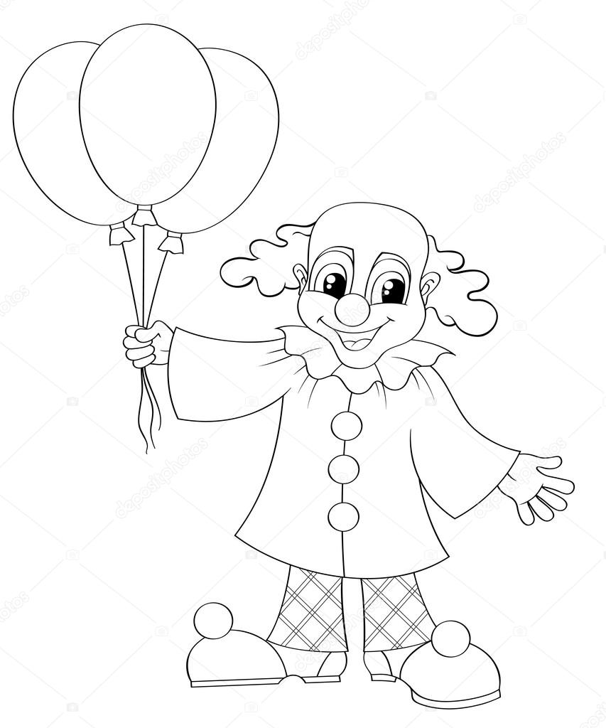 Funny Clown With Balloons Stock Vector C Alka5051 90272922