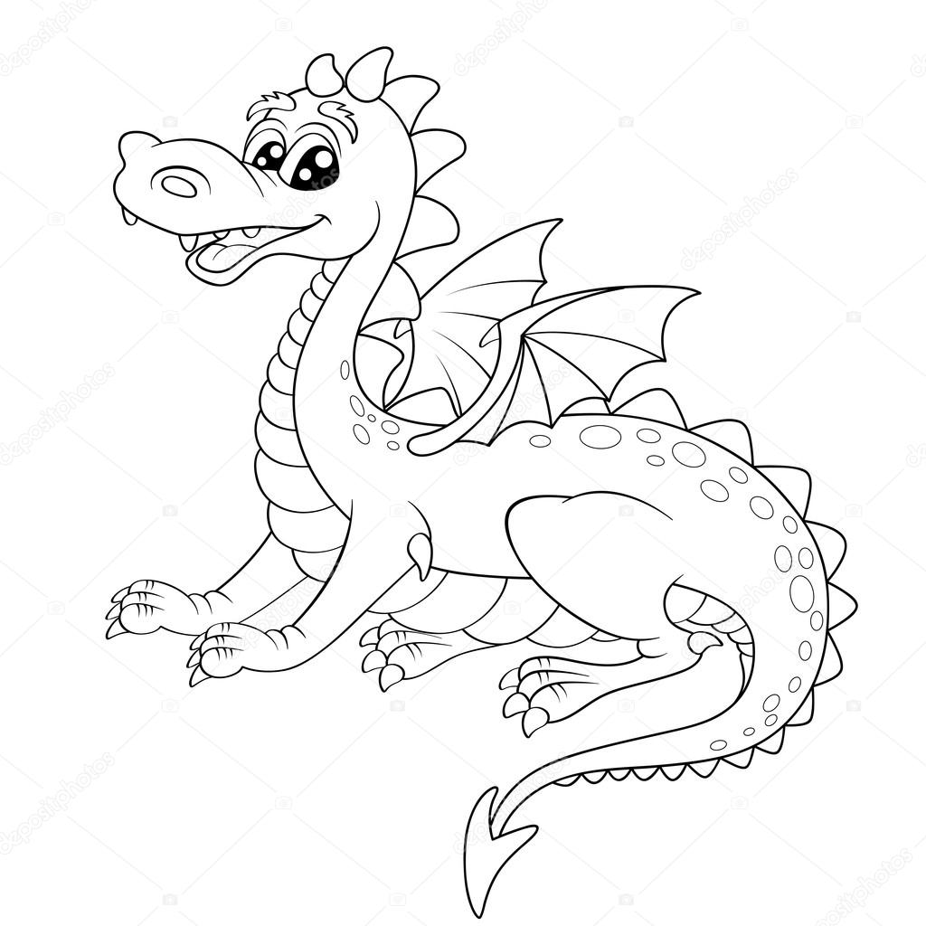 Dragón de dibujos animados lindo — Vector de stock © Alka5051 #99994582