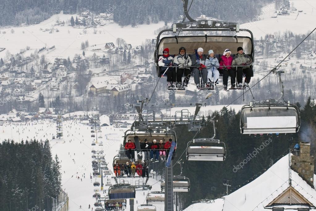 Zakopane Ski Resort Polana Szymoszkowa Place Stock Editorial