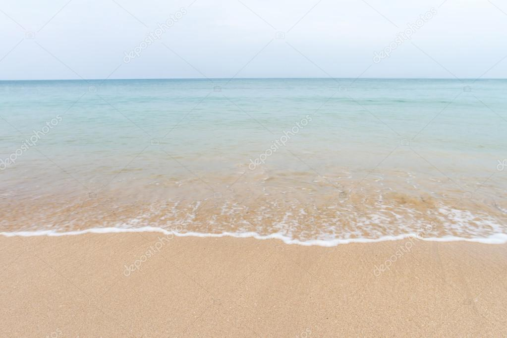 Ocean waves and beach with sand  on Koh Lanta, Krabi,Thailand