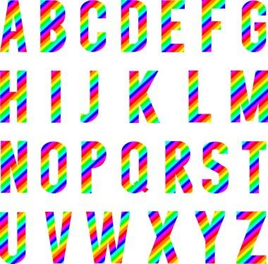 Alphabet Rainbow Style