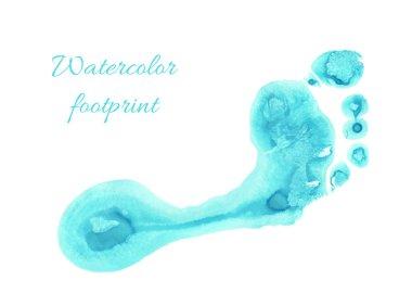 Watercolor children foot