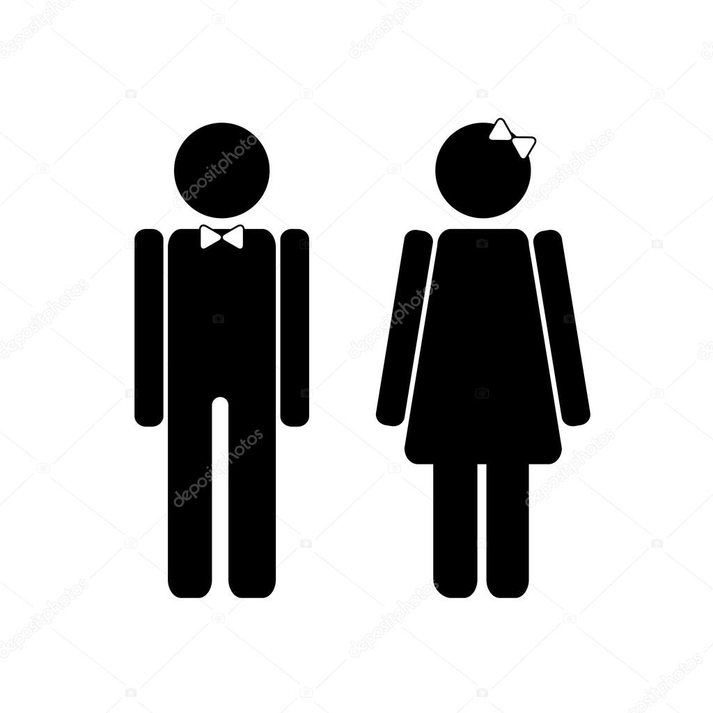 Man And Woman Restroom Sign Stock Vector Volhalausava 70818003
