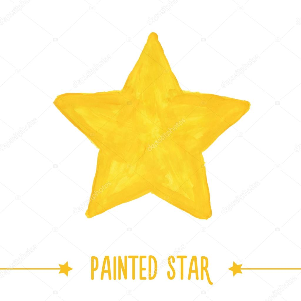 Painted star.