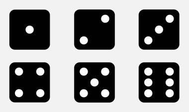 Set of six dices icon. icon