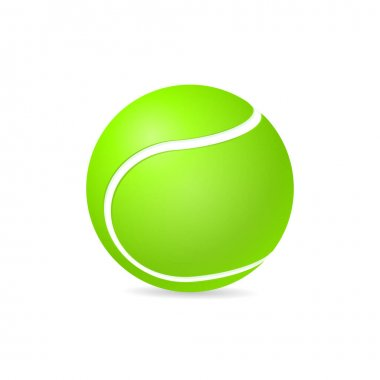 Vector realistic tennis ball  isolated on white background. Sport equipment icon. icon