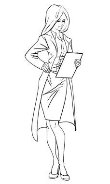 Attractive woman illustration.