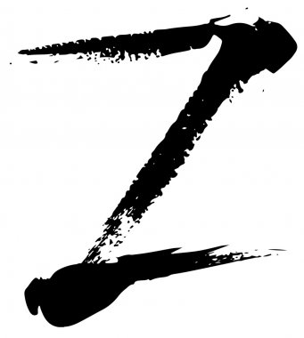 Acrylic alphabet Z letter