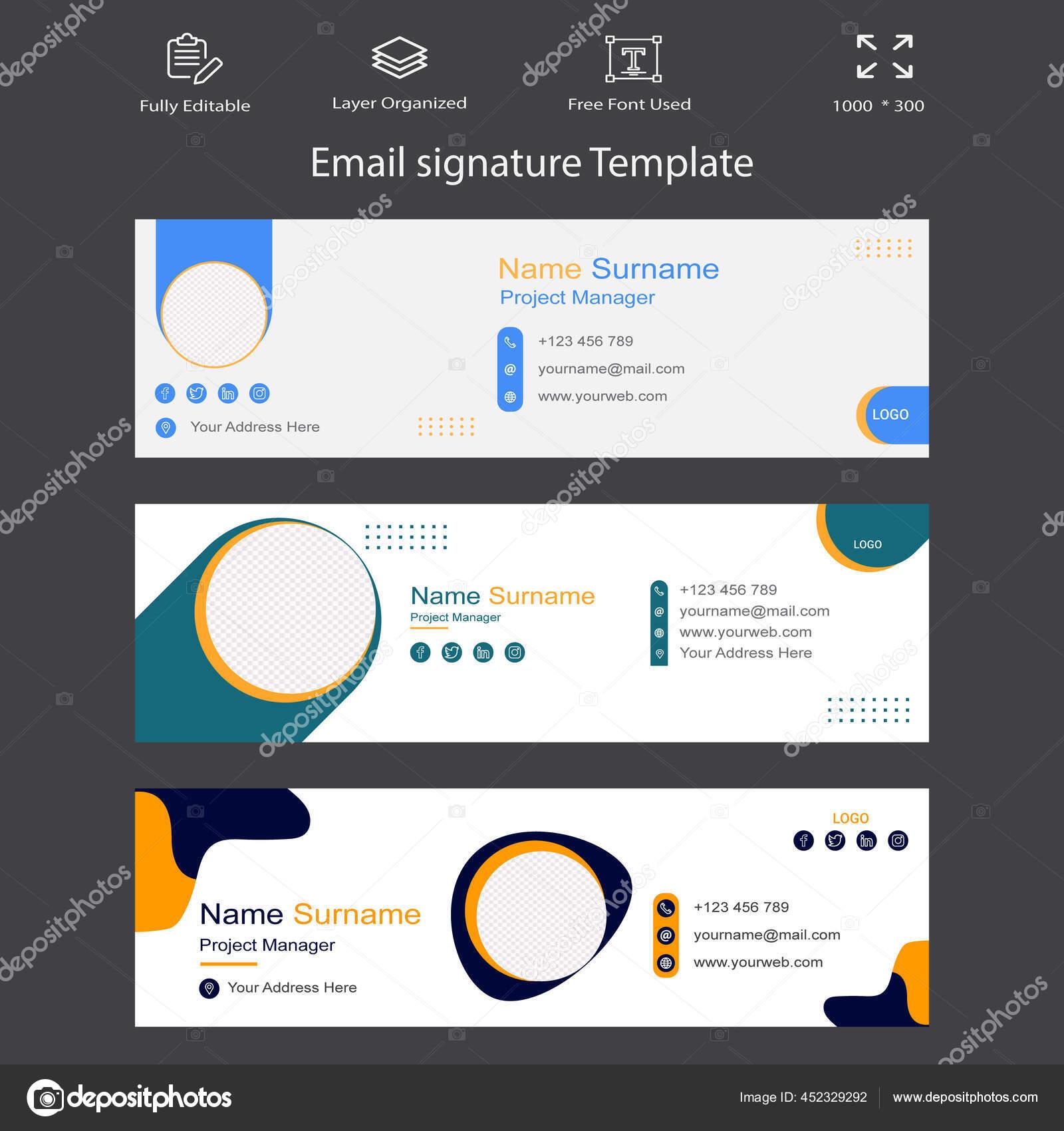 Professional Business Email Signature Template Design. Corporate Business  individual Communication idea. Modern and creative Digital Marketing ...