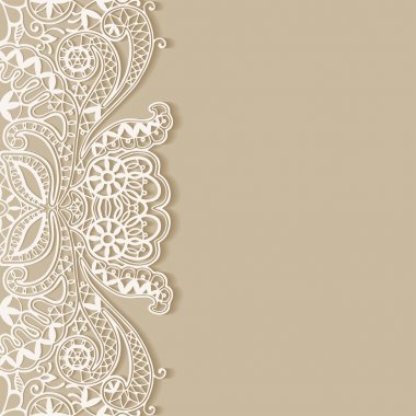 Abstract background, wedding invitation or greeting card design with lace pattern, beautiful luxury postcard, ornate page cover, ornamental vector illustration stock vector