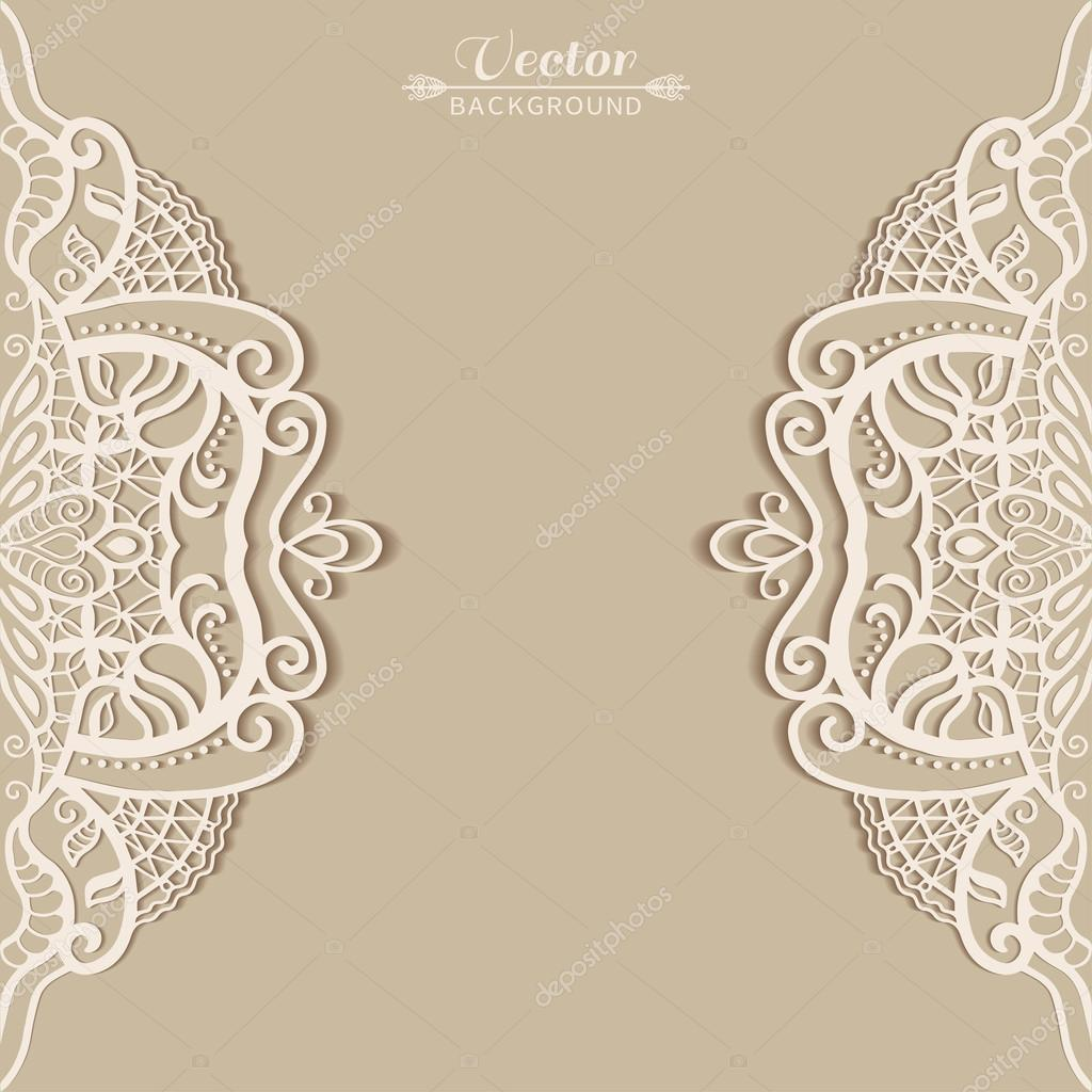 Lace invitation card stock vector liukas 58585643 abstract background wedding invitation or greeting card design with lace pattern beautiful luxury postcard ornate page cover ornamental vector stopboris Gallery