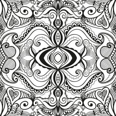 Black and white seamless texture. Vector geometric pattern