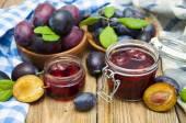 Photo plums jam