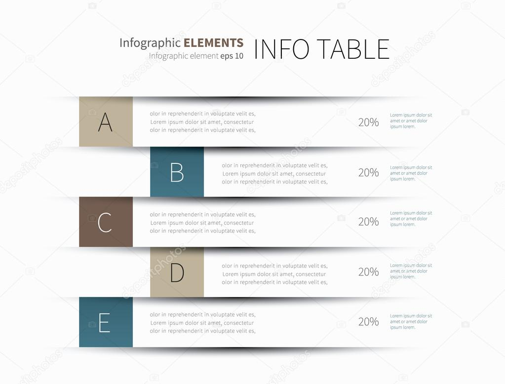 Infographics table lines stock vector phillipes 102972914 for Html table lines