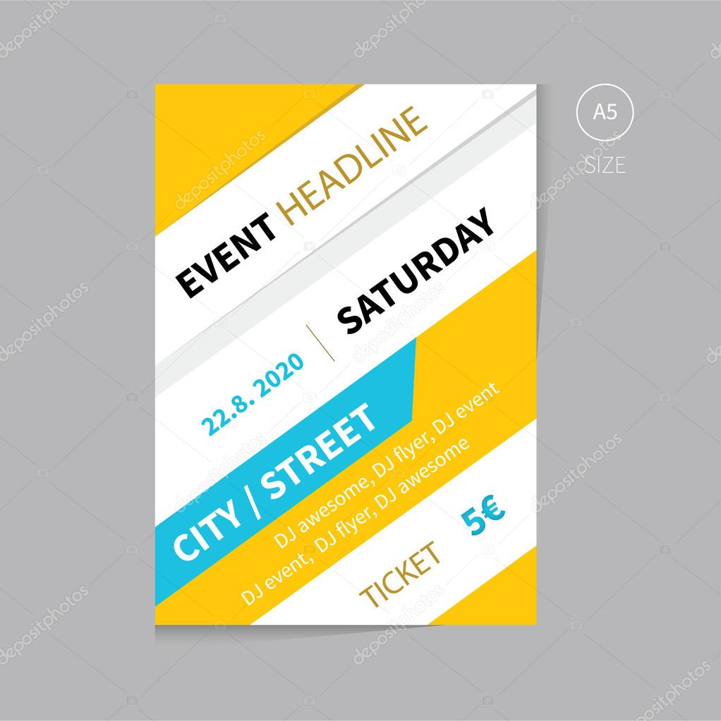 Vector Event Brochure Flyer Template Design A Size Stock Vector - Event brochure template