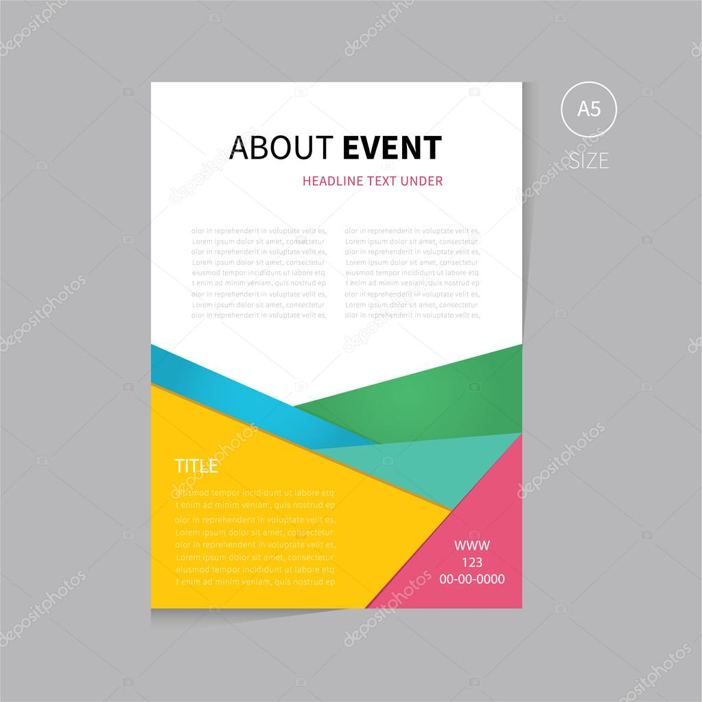 Vector Brochure Flyer Template Design A Size Stock Vector - A5 brochure template