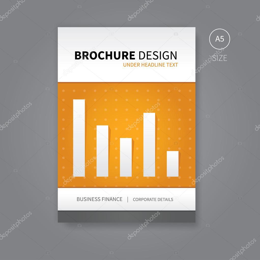 Vektor-Broschüre-Flyer-Vorlage für Finanzen Buch — Stockvektor ...