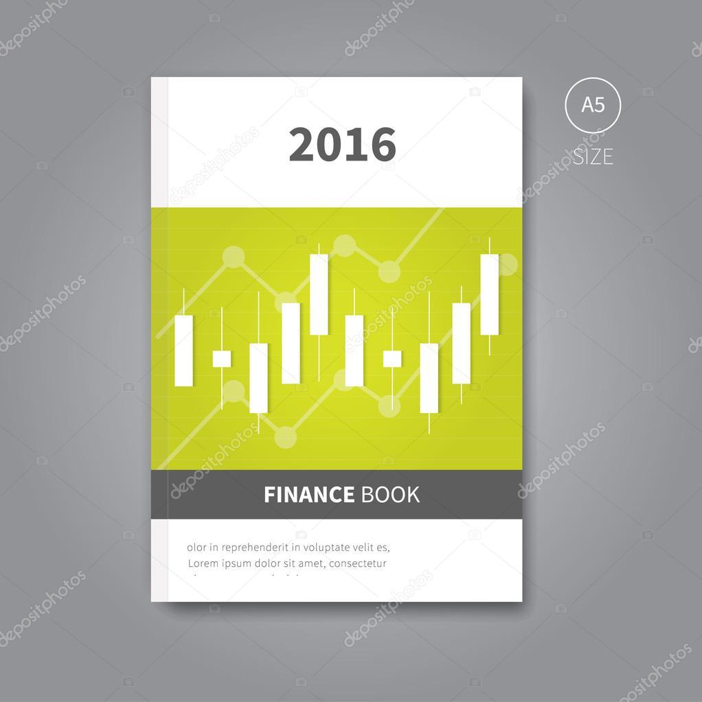 Broschüre Flyer Vorlage für Finanzen Buch — Stockvektor © Phillipes ...