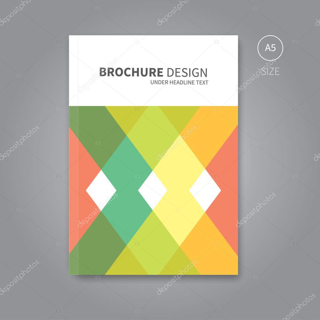 vektor brosch re flyer vorlage f r buchgestaltung. Black Bedroom Furniture Sets. Home Design Ideas