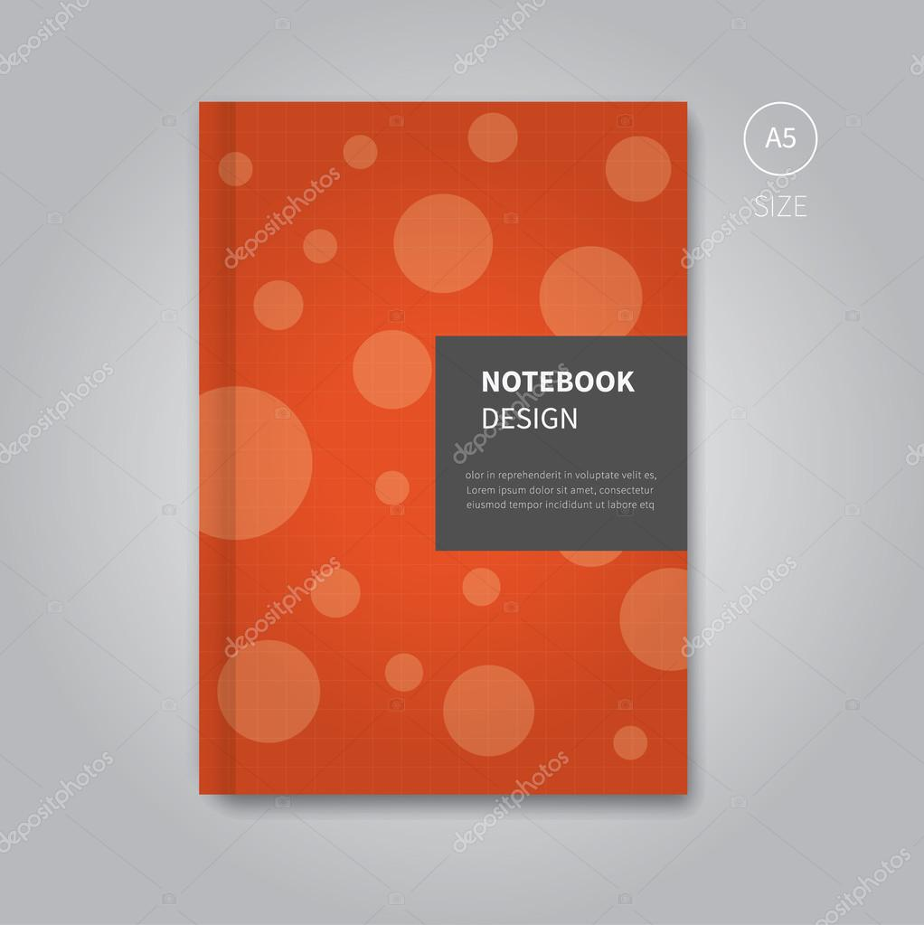 notebook cover design template — Stock Vector © Phillipes #85677718