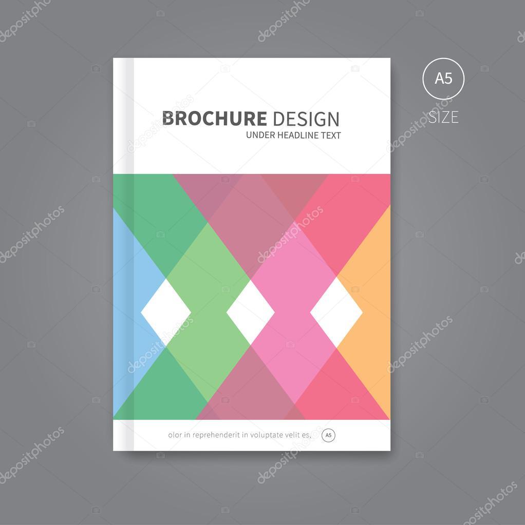 abstrakte Broschüre Hintergrund Vorlage — Stockvektor © Phillipes ...